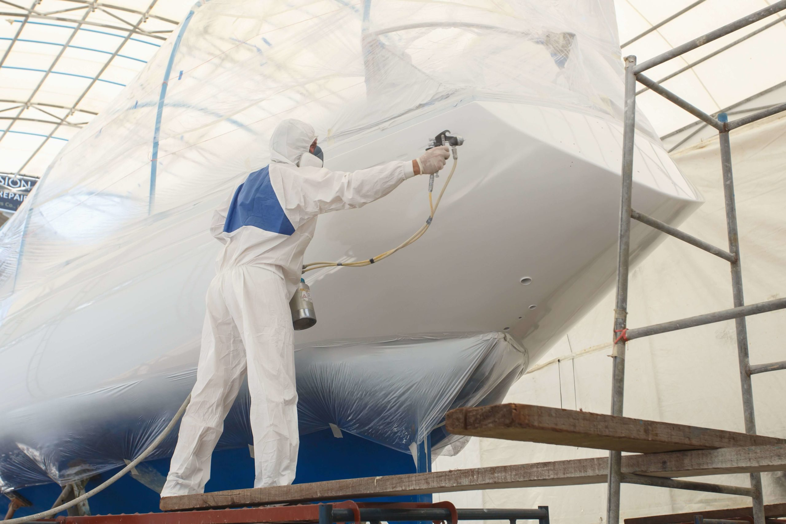 yacht painting